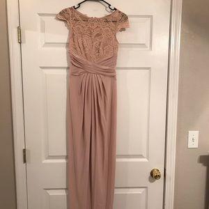ASOS blush pink formal dress